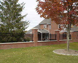 Brick and Iron Fence Exterior