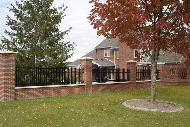 Wrought Iron And Brick Fence Designs Images